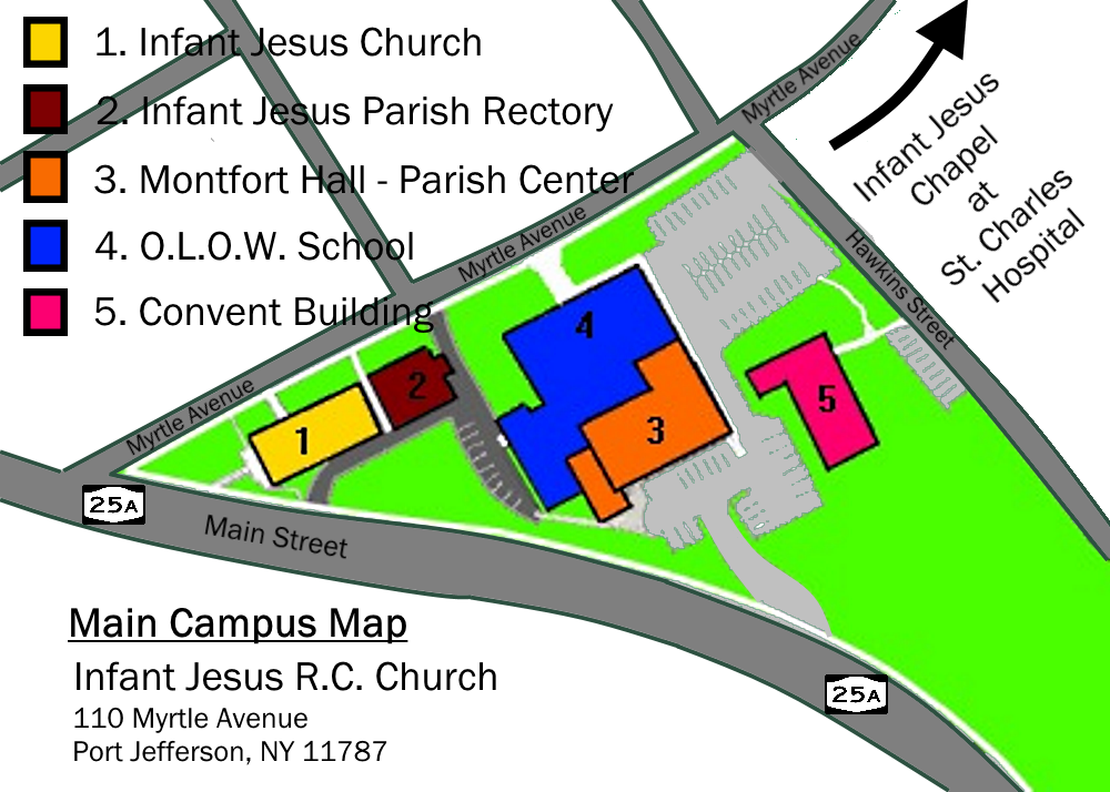 Infant Jesus Campus Map