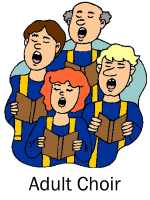 Infant Jesus Adult Choir Clipart
